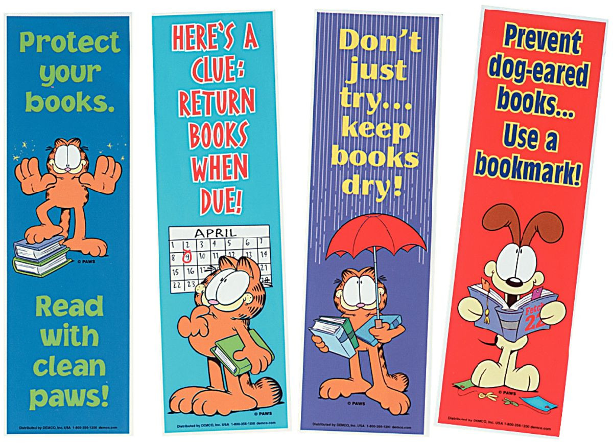 Garfield Library Posters and Bookmarks