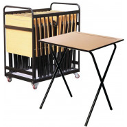 20 Exam Desk Bundle shown in Beech