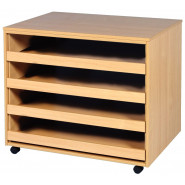 Four Drawer Open Paper Storage