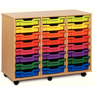 Triple Column Shallow Tray Storage Units